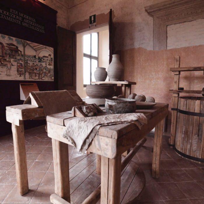 Una stanza del Museo della Ceramica a Fiorano Modenese