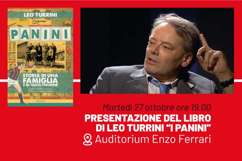 """Leo Turrini fotografato con a fianco la copertina del libro """"I Panini"""""""